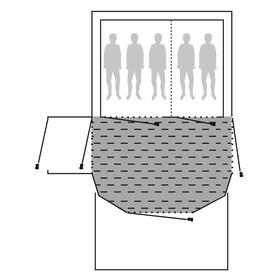 Outwell Fleece Carpet - Accessoire tente - Tomcat 5SA gris